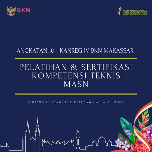 Pelatihan dan Sertifikasi Kompetensi Teknis Manajemen ASN Jabatan Pengawas/JF Kepegawaian Ahli Muda (Makassar-10)